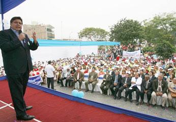 Presidente Alan Garcia en Chancay