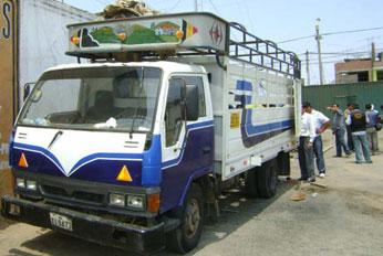 Camión donde se encontro la droga
