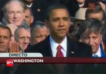 Obama momentos de juramentación