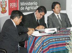 Convenio con AGRORURAL y la Empresa Minera Los Quenuales