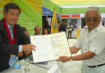 Reconocimiento a personalidades notables de Barranca, Alberto Best Ramos