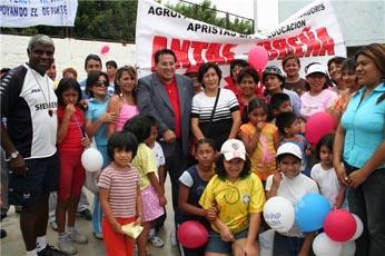 Alcalde Pepe Gordillo inaugura academia de natacion para la comunidad breñense iniciando la temporada municipal verano 2009