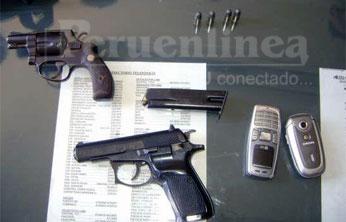 Se les halló 3 armas de fuego abastecidas.