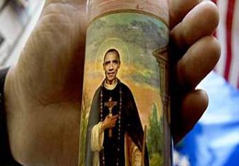 Los cirios con la cara de Obama en el cuerpo del santo peruano son un éxito en ventas. Ya se vendieron 700 ejemplares en menos de dos meses