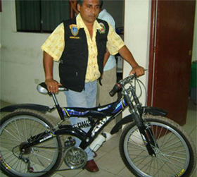 Entregaba droga en la modalidad de delivery, se desplazaba en una bicicleta