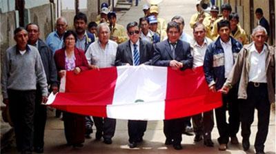 Ing. Nelson Chui en paseo de bandera.