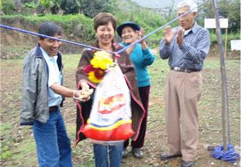 Consejera regional de Huaral, Nelly Tang Sánchez en Ihuari