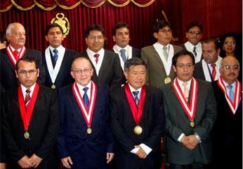 Juramentación de nuevos jueces y fiscales del Distrito Judicial de Huaura.