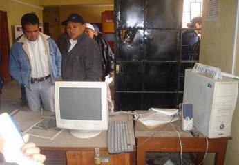 Estado del primer ambiente de la Municipalidad de Oyón, tras apertura