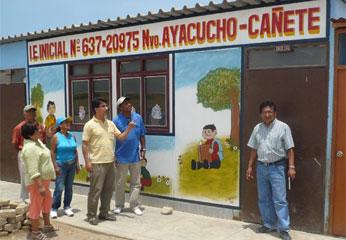 Vicente Sánchez en visita personal a Nuevo Ayacucho