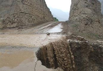 Deslizamiento de la Carretera Huaral - Acos, por intensas lluvias.