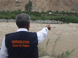 Inspección del Alcalde de Huaral, ante crecida de río Chancay.