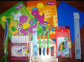 Paquetes escolares que se entrego a cada alumno beneficiado