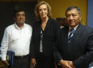 Alcalde, Congresista y Director del hospital Cayetano Heredia se comprometen a trabajar por la salud de Roxanita