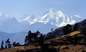 Cordillera Huayhuash en la provinicia de Cajatambo