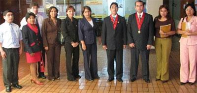 Dr. Víctor Mosqueira con Magistrados y personal de  Madre de Dios y Moquegua.