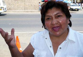 Delia Arias,  Dirigente de Confianza Perú