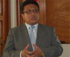 El viceministro de Justicia, Erasmo Reyna