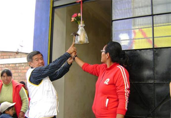 Inauguración de aula en Oyón.