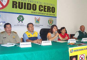 """Conferencia de prensa sobre la campaña regional """"Ruido Cero 2009"""""""
