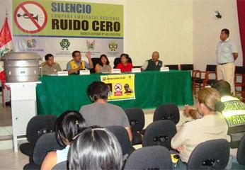 """Lanzamiento de la campaña ambiental regional """"Ruido Cero"""""""