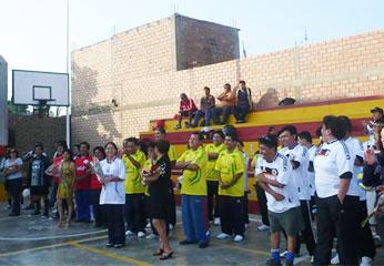 Campeonato de fútbol entre las diferentes áreas de la UGEL Nº 16.