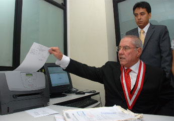 Javier Villa Stein, Presidente del Poder Judicial del Perú.