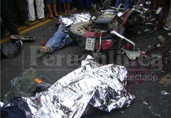 Al parecer, manejaban motocicleta en estado de ebriedad. Foto R. La Chira.