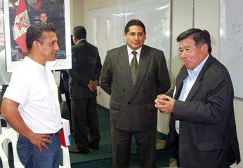 Ollanta Humala y el Ing. Nelson Chuy Mejía.