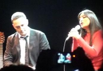 El cantautor  Jorge Drexler y la actriz peruana Magaly Solier.