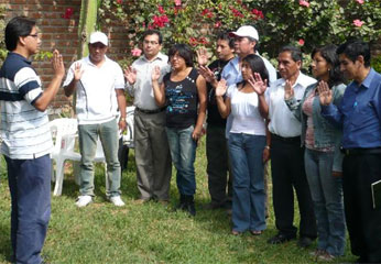 Nueva junta directiva provincial juramentó ante secretario general regional el 03 de mayo en Huacho.