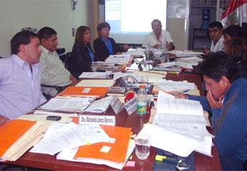 Consejo Regional en elección de representante del Gobierno Regional de Lima,  en el Directorio de Emapa Cañete.