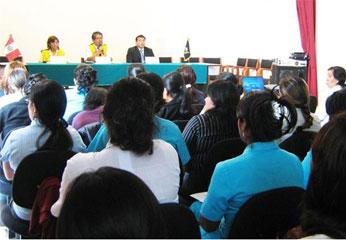 60 Profesionales iniciaron su capacitación en el Auditórium de la Casa de la cultura,