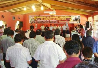 Foto archivo: Encuentro de alcaldes provinciales de la Región Lima.