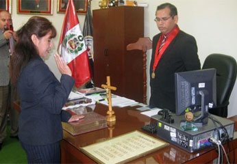 Jueza Dina Janqui Guzmán