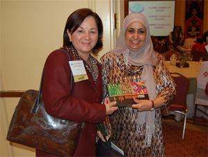 La ministra de Justicia, Rosario Fernández y ministra de Arabia Saudita