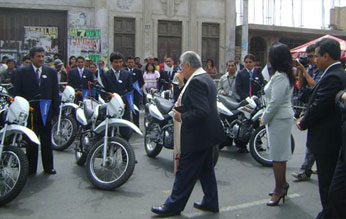 Bendición de las  20 motocicletas.