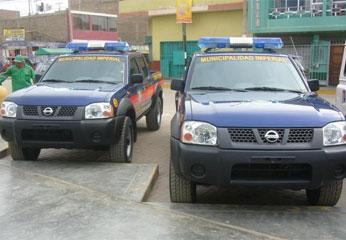 Modernas camionetas para seguridad del distrito de Imperial - Cañete