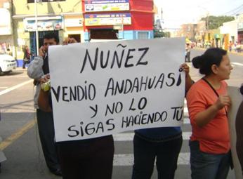 Rechazo total contra Eduardo Nuñez (Ex-candidato a la Región Lima)