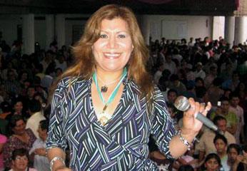 Cantante ALicia Delgado. Foto Trome.