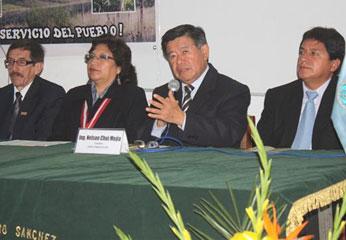 Nelson Chui en inauguración del VIII Simposio Agropecuario.