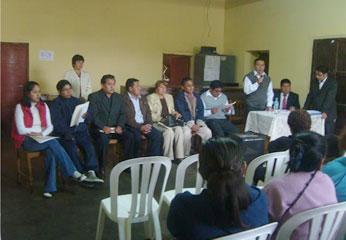 Sesión se llevó a cabo en el auditorio del Local Municipal del Centro Poblado de Humaya.