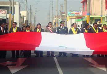 Marcha por día de la bandera
