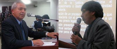 Dr. Víctor Romero Uriol y el Dr. Víctor Reyes Alvarado