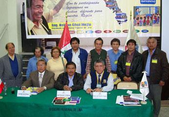 El presidente del Gobierno Regional de Lima, Ing. Nelson Chui Mejía, participó en el Primer Taller Regional del Presupuesto Participativo Regional 2010