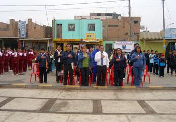 La Ceremonia estuvo presidido por el alcalde del Distrito de Huaura Sr. Jacinto Romero Trujillo.