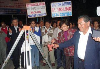 Inauguración del asfaltado de la calle Manuela Díaz Chaflojo en el sector el Molino