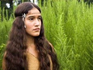 """Actriz Q""""orianka Kilcher- quien se hizo conocida por el rol de Pocahontas-"""