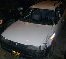 Auto que atropelló a Félix Trebejo.