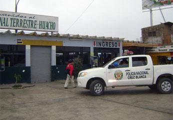 Cajero automático Global Net ubicado dentro de las instalaciones del Terminal Terrestre de Huacho.